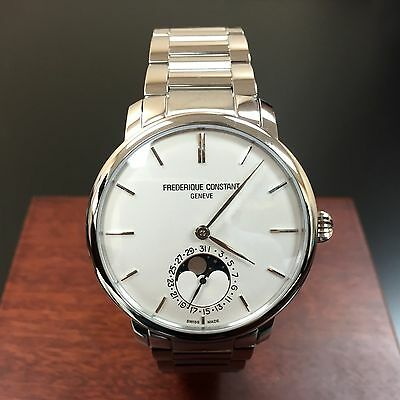 FREDERIQUE CONSTANT SLIMLINE MOONPHASE MENS WATCH FC-705S4S6B2 NEW!!! $3,795