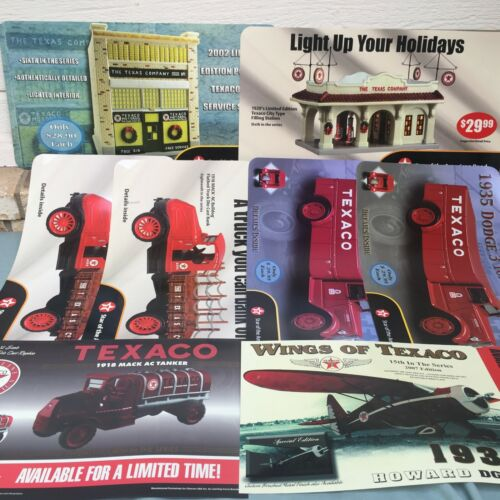 Vintage Lot 8 Texaco Store Display Signs Truck Airplane Gas Filling Station ERTL