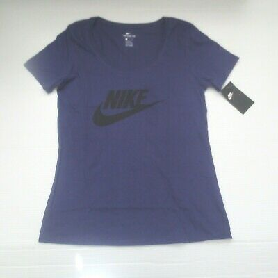 Nike Women FUTURA Icon Logo T-Shirt - 888985 - Purple 566 - Size S - NWT