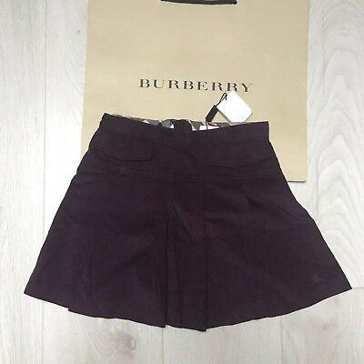 BNWT Gorgeous BURBERRY velvet skirt 6 years RRP £80 Blackcurrant 100% Genuine