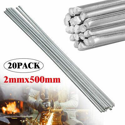 Low Temp Aluminum Wire Brazing Rod Repair Fix Cracks Drill Tap Polish 20 Pc