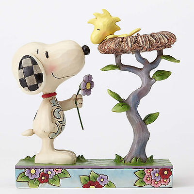 Jim Shore Peanuts Snoopy with Woodstock in Nest Warming Gift 4054079 NEW NIB