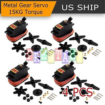 4PCS XMG996R Metal Gear MG995 Digital Torque Servo Motor For Futaba JR RC Truck