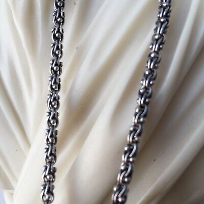 925 Silver Sterling Mens Albanian Braided Wheat Chain Necklace 61GR 24 Inch 5mm  5mm Sterling Silver Wheat Chain
