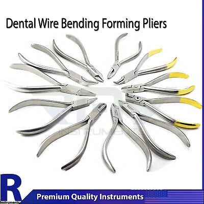 Orthodontic Dental Utillity Pliers Wire Bending Arch Forming Loop Clinic Lab New