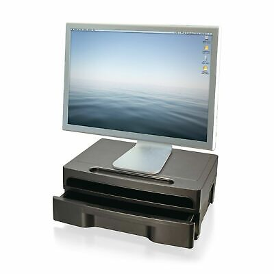 Computer Monitor Stand With Drawer Riser Laptop Printer Home Office Desk (Best Home Office Computer)