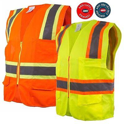 Class 2 Tone High Visibility Construction Safety Vest Reflective Vest -981112