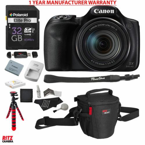 Canon PowerShot SX540 HS 50x Zoom with 32GB Memory, Tripod,