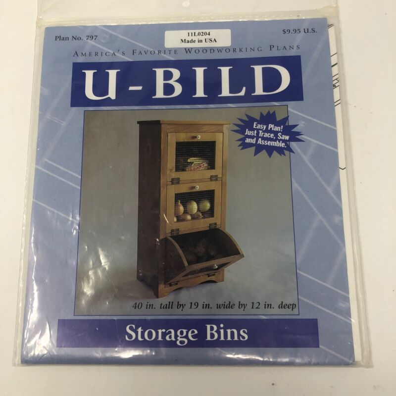 Woodworking Project Paper Plan to Build Storage Bin 11L0204