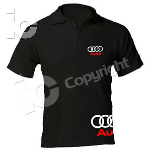 polo audi racing maglia tt a3 a4 a6 rs t shirt suv q7 q5 r8 a5 ebay. Black Bedroom Furniture Sets. Home Design Ideas