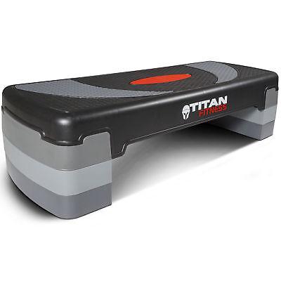 "Titan Fitness Medium Aerobic Step 4""-8"" Step w/Risers Gym Home Exercises Workout"