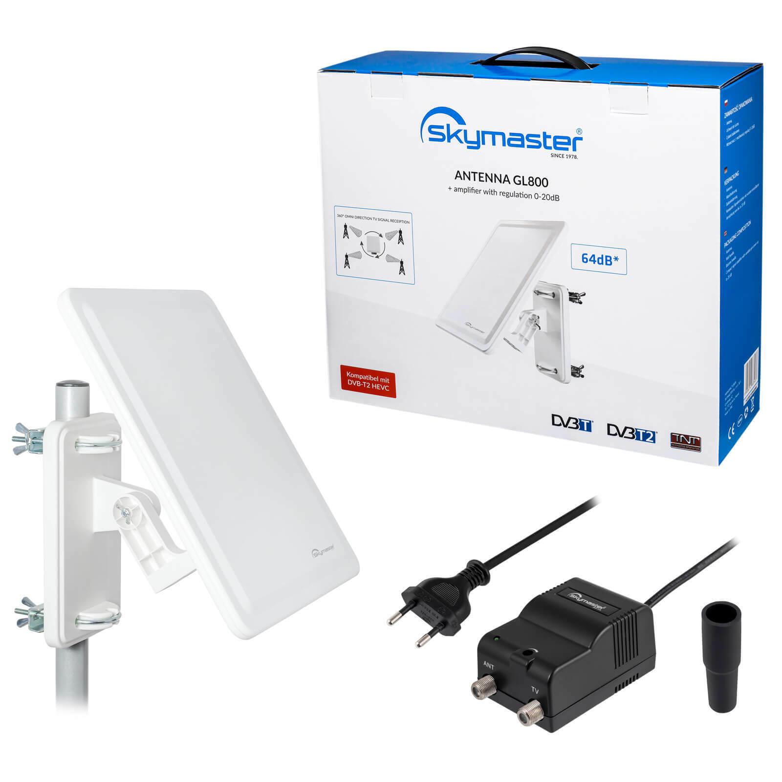 Digital Ultra 4K DVB-T2 Freenet TV Außenantenne AKTIV terrestrische Antenne 64dB