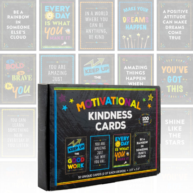 Motivational Cards: Set of 100 Inspirational, Kindness, Motivational and Quote