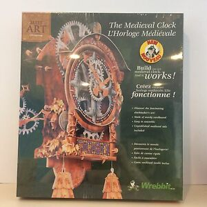 Wrebbit Build Art Collection Medieval Clock. New. Great gift.
