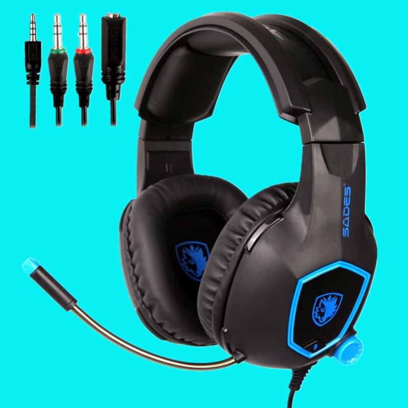 SADES SA-818 Stereo PS4 Gaming Headsets Surround Headphone for Xbox One PC w//Mic