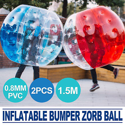 2Pcs 1 5M Body Inflatable Bubble Bumper Zorb Ball Soccer Pvc Human Lawn Pro