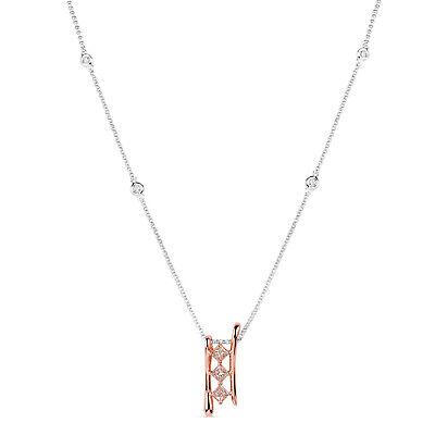 Rosa Diamant - Halsketten & Anhänger 0.70ct Natürlich Kostüm Pink Diamanten - Kostüm Diamant Halskette