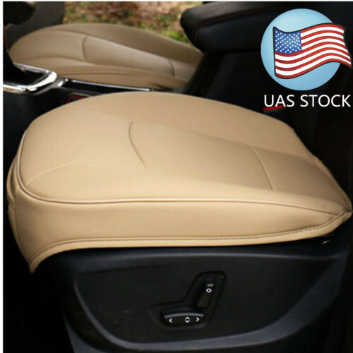 Car Parts - USA Beige PU Leather 3D Full Surround Car Seat Protector Seat Cover Accessories