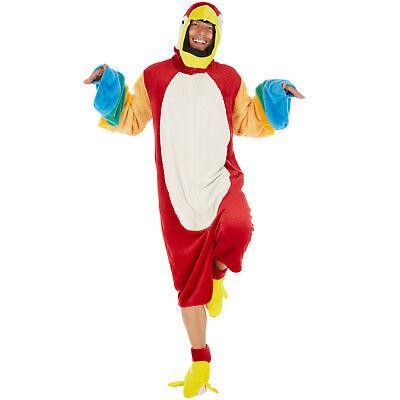Papagei Kostüm Frauen Männer Karneval Fasching Halloween Ara Einteiler Dschungel