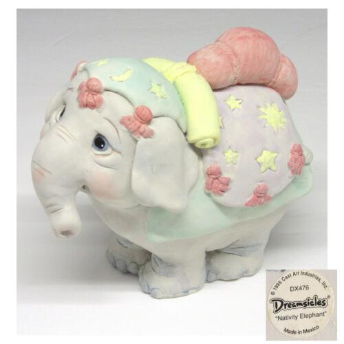 Cast Art Dreamsicles Nativity Elephant DX478 Original Label 1995 Signed