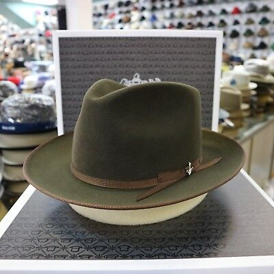 STETSON STRATOLINER SPECIAL EDITION SAGE FUR FELT C-CROWN DRESS HAT