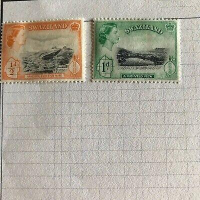 Vintage Swaziland Stamps Lot Of 2 Stamps Mint