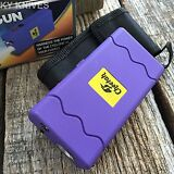 CHEETAH PURPLE 10 Million Volt Stun Gun Rechargeable w/LED light L-100PRP