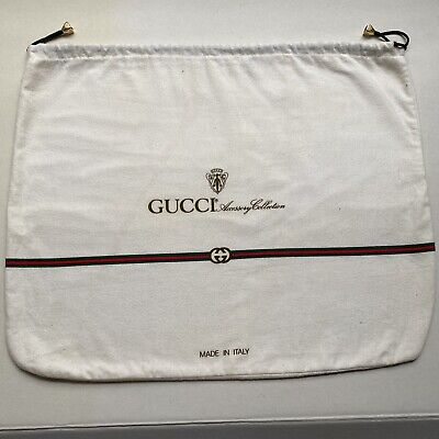 """Vintage GUCCI Accessory Collection White Flannel Dust Cover Bag 17"""" X 14"""""""