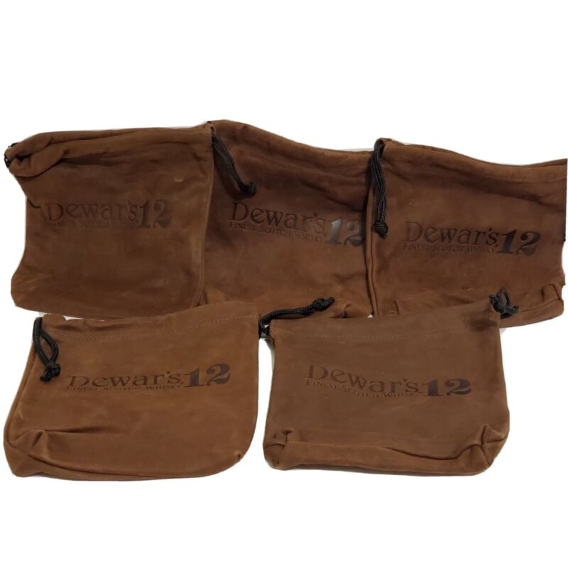 Dewars 12 Scotch Leather Poutch 5 Bags