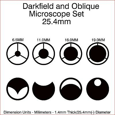 25.4mm Diameter Microscope Darkfield And Oblique Illumination Set