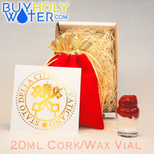 Pure Holy Water Authentic Wax Sealed 20mL Cork Vial Hand Made Limited To 100 - $21.99