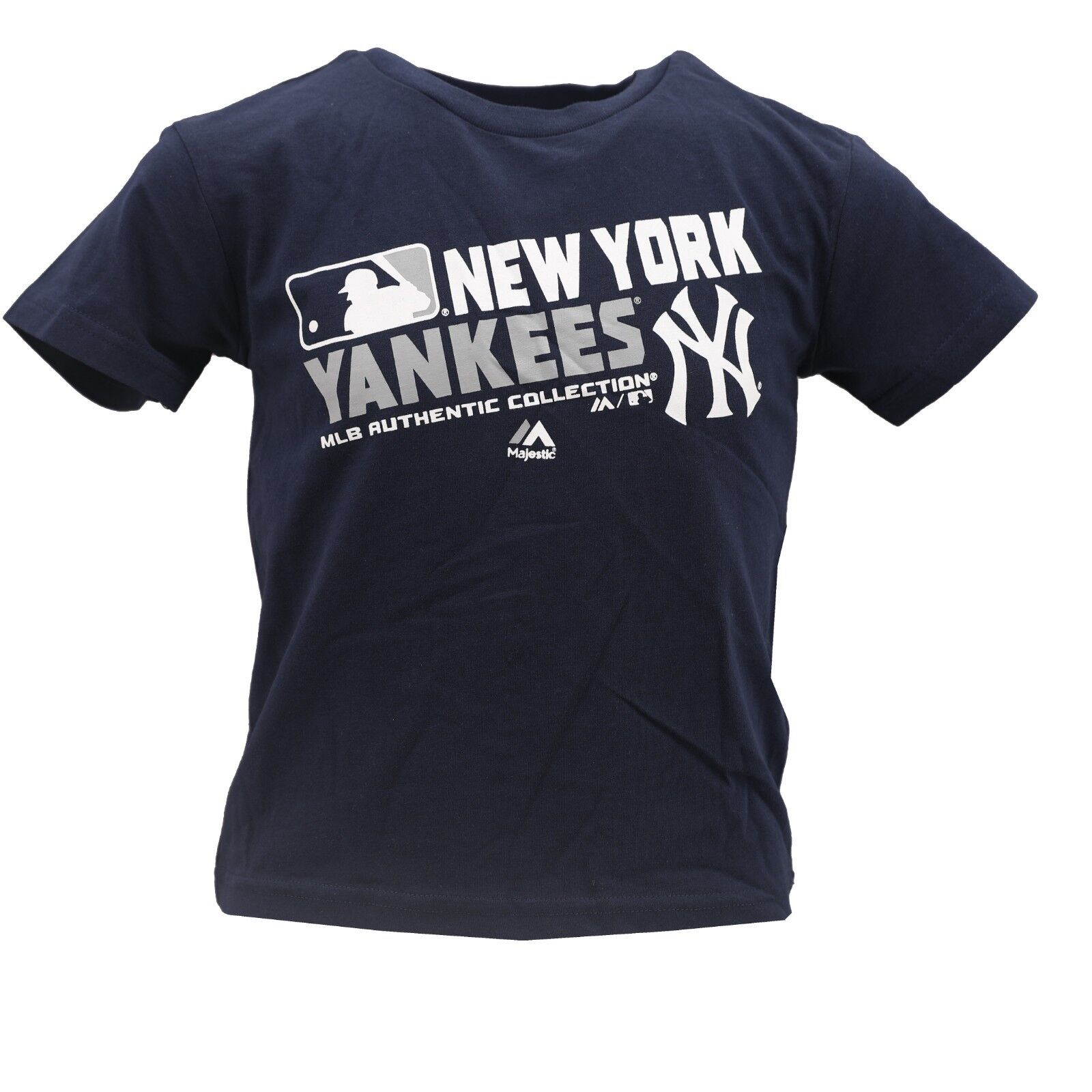 71070377a New York Yankees Official MLB Majestic Apparel Youth Kids Size T-Shirt New  Tags