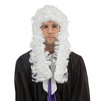 Lady Justice Halloween Costume (Adult Mens Ladies Judge Barrister Lawyer Court Fancy Dress Costume White)