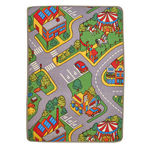 large kids car play mat 120 x 80cm town village childrens toy fun carpet rug