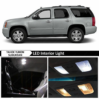 18 pcs Full White Interior LED Lights 2007 2014 GMC Yukon Chevy Tahoe Suburban