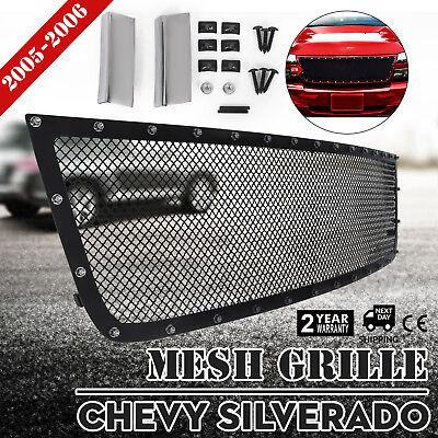 Rivet Mesh Grille For Chevy SILVERADO 2005-2006 Insert Set Upper 1500 2500 -