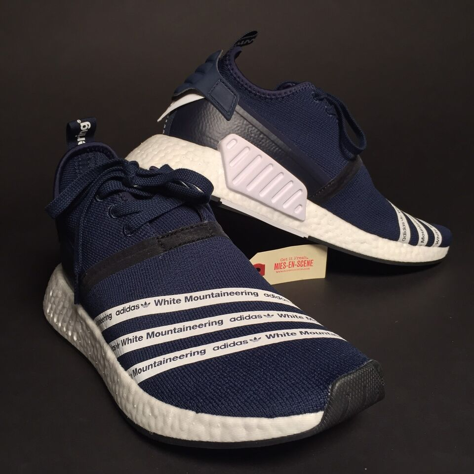 wholesale dealer 00ac0 1757b Adidas x White Mountaineering NMD R2 - US 9.5 - Navy Blue  M
