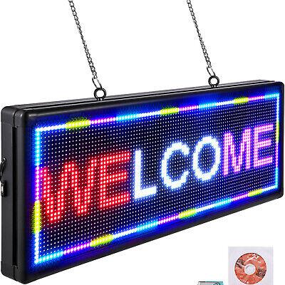 Vevor Led Scrolling Sign 40x15 P10 Programmable 3color Message Board W Sling