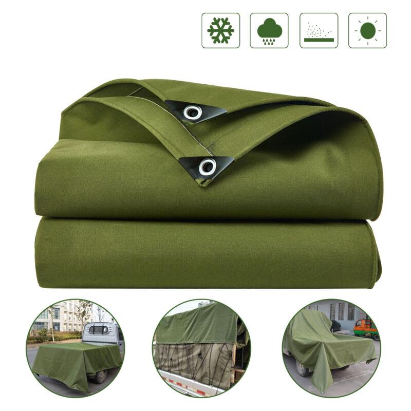 Heavy Duty Waterproof Canvas Tarp 16 Oz Cotton Canvas Tarpaulin Cover Tent