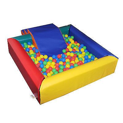 Implay Soft Play PVC Foam Children's MultiColoured Square Ball Pool Activity Toy