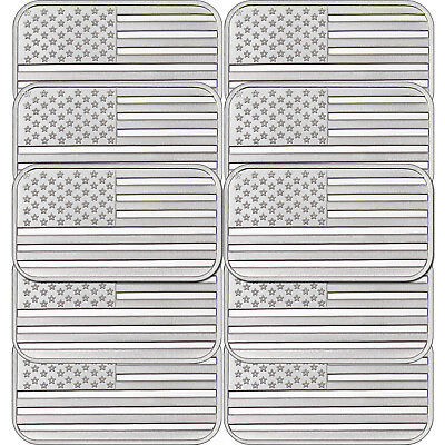 American Flag 1oz .999 Fine Silver Bar by SilverTowne LOT of 10