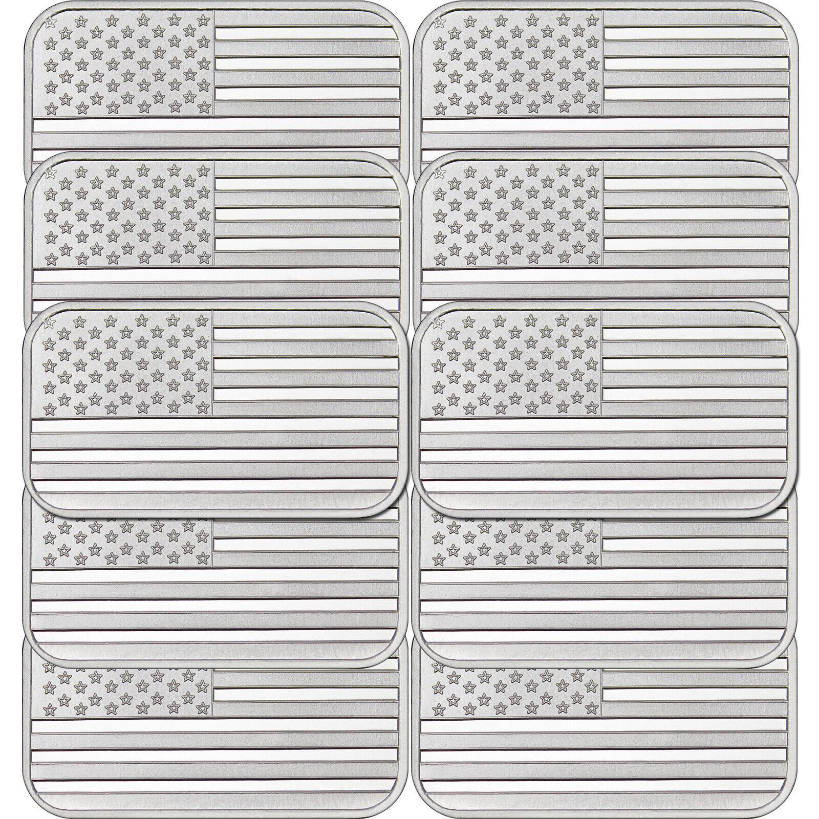 Купить American Flag 1oz .999 Fine Silver Bar by SilverTowne LOT of 10