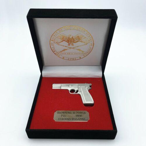 Browning Hi-Power automatic pistol miniature replica