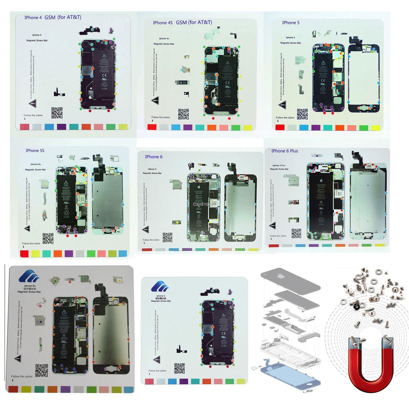 1Set/8pc Magnetic Screw Mat Repair Pad Guide For For
