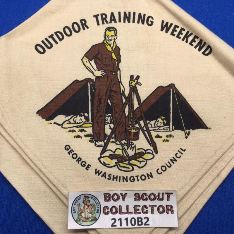 Boy Scout George Washington Council Outdoor Training Weekend NJ Neckerchief