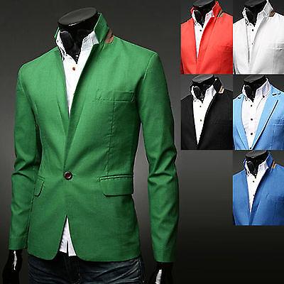 New Fashion Mens Luxury Linen Light Blazer Jacket Jumper Suit Formal Outwear Top