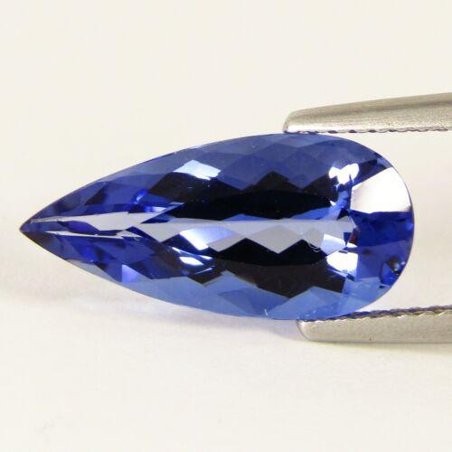 3.20Cts Natural Blue Beryl Pear Shape 15x7.3mm Loose Gemstone REF VDO