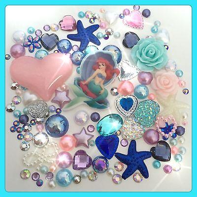 Disney The Little Mermaid Theme Cabochon Gem & pearl flatbacks, decoden craft #2