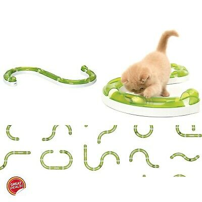 Cat Toys Lot Play Tunnel Tube Interactive Moving Ball Speed Track Circuit Kitten