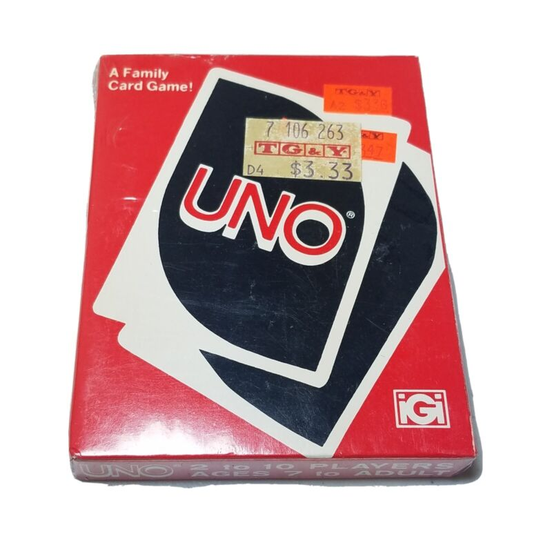 Vintage 1979 Uno Card Game, New In Box, Factory Sealed
